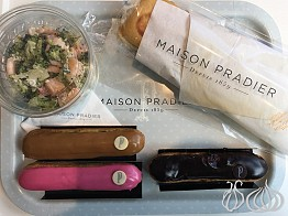 Maison Pradier: A Discovery! The Salad and a Salmon Sandwich