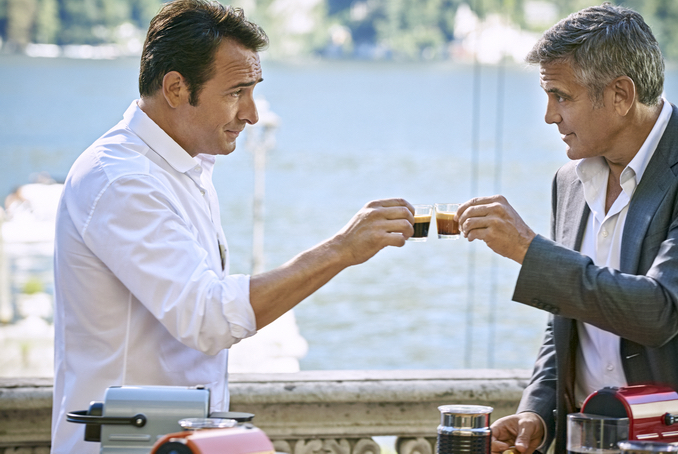 Georges clooney joined by jean dujardin for the latest for Dujardin height