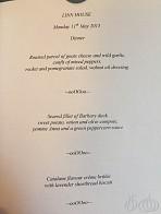Dinner at Chiva's Linn House Keith