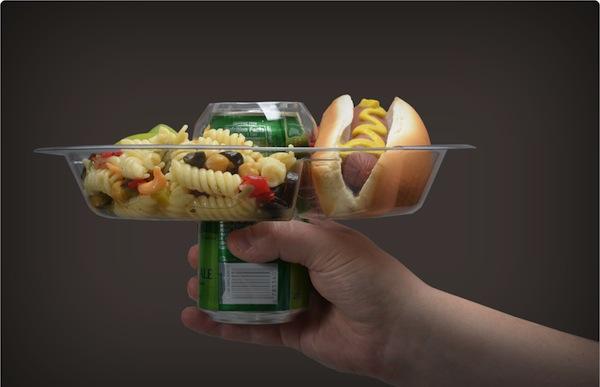 The Goplate Reusable Food Amp Beverage Holder